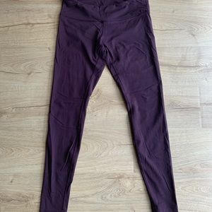 Lululemon Burgundy Leggings